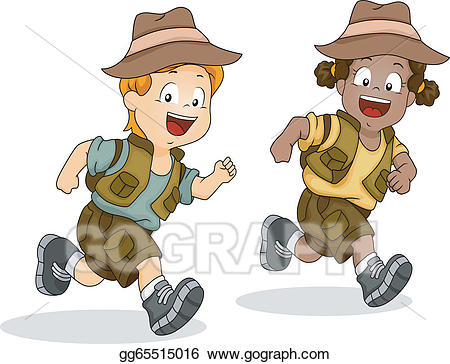 png royalty free download Vector stock boy and. Kids adventure clipart