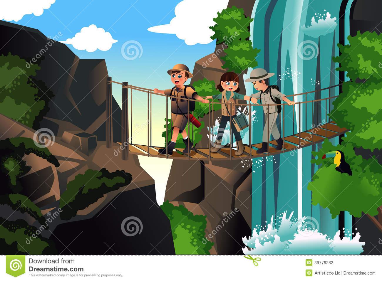 svg stock On an trip panda. Kids adventure clipart