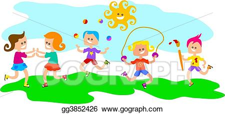 clip freeuse stock Kids at play clipart. Clip art stock illustration