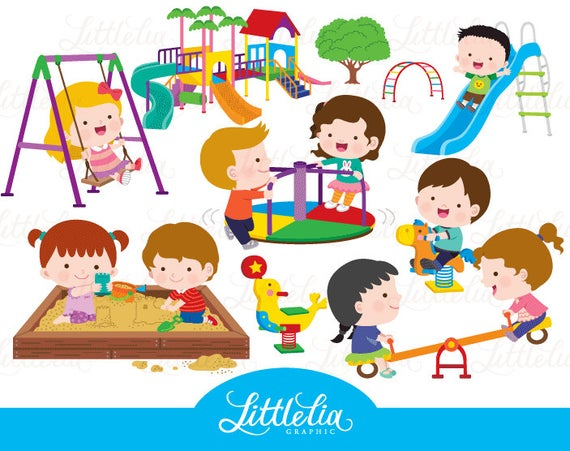 banner freeuse Playground . Kids at recess clipart