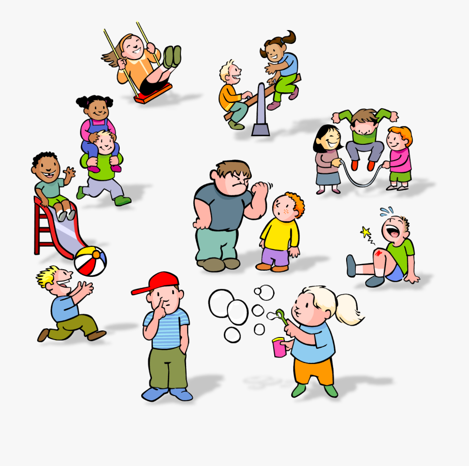 clipart black and white stock Thinking free . Kids at recess clipart