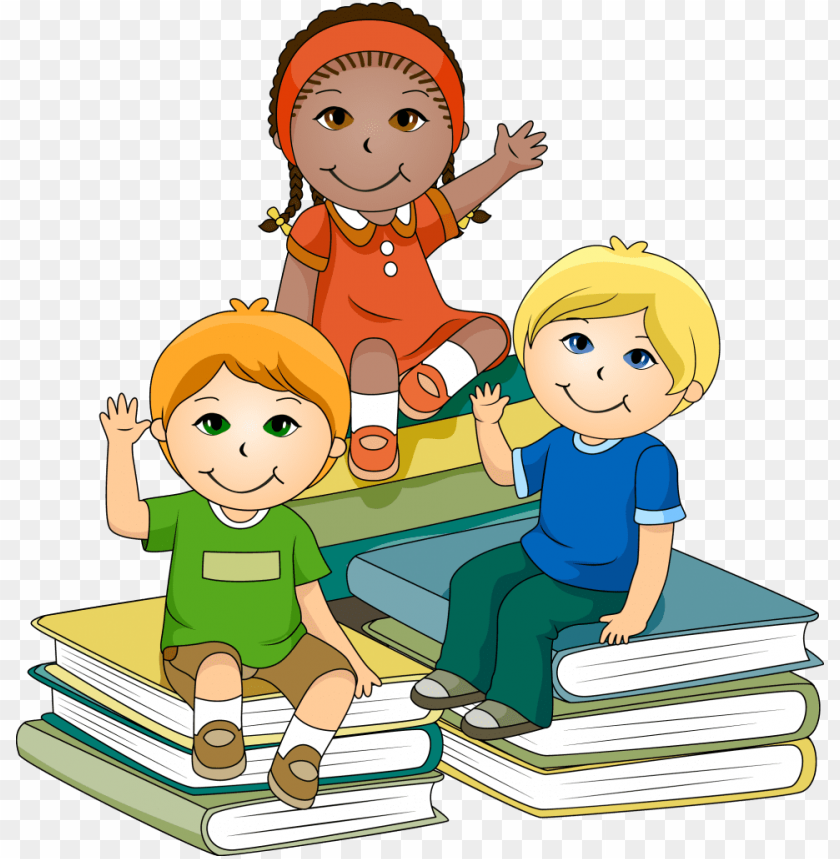 clipart free library Children png image with. Kids at school clipart.