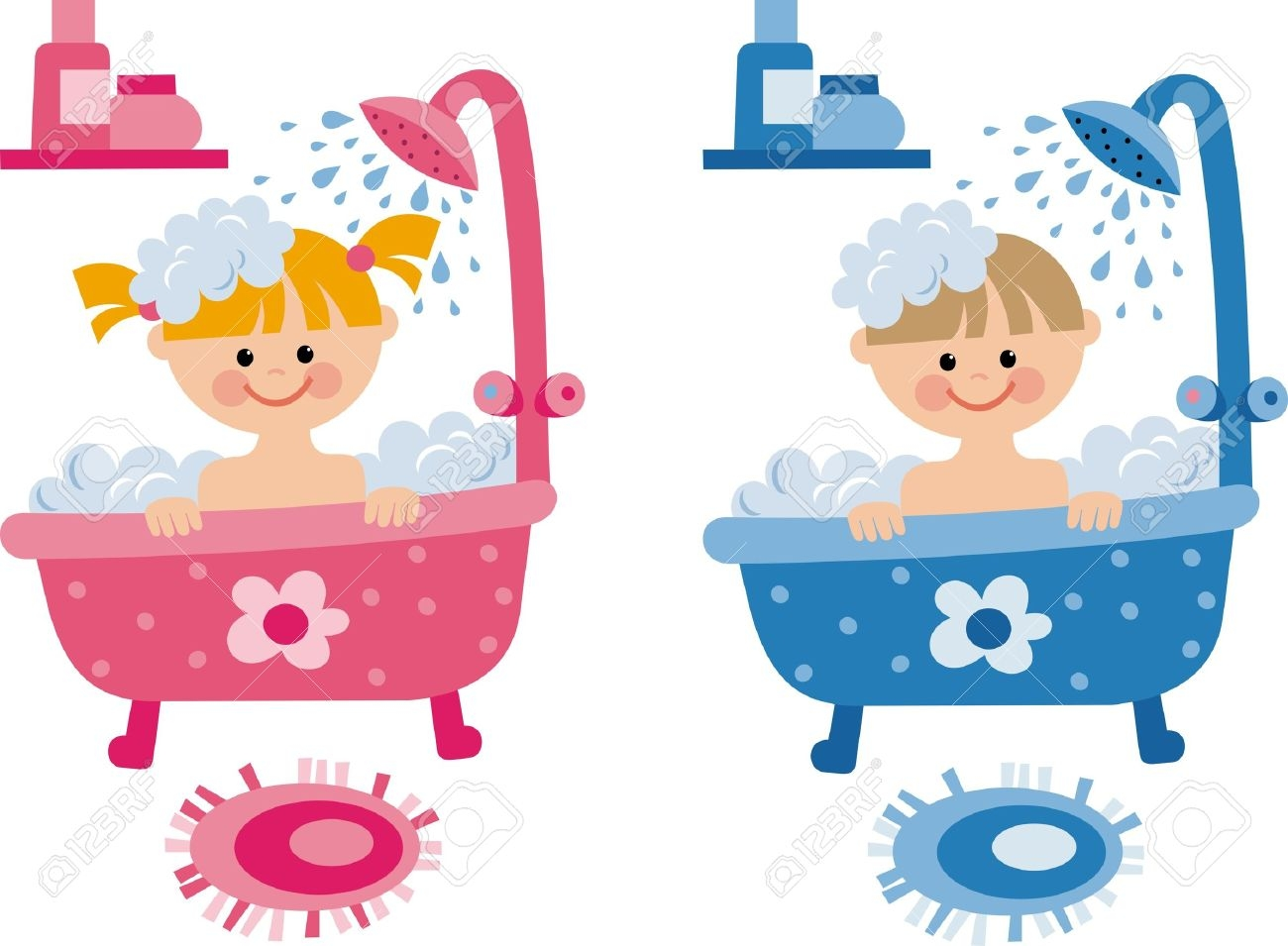 png black and white Free bath time cliparts. Kid shower clipart
