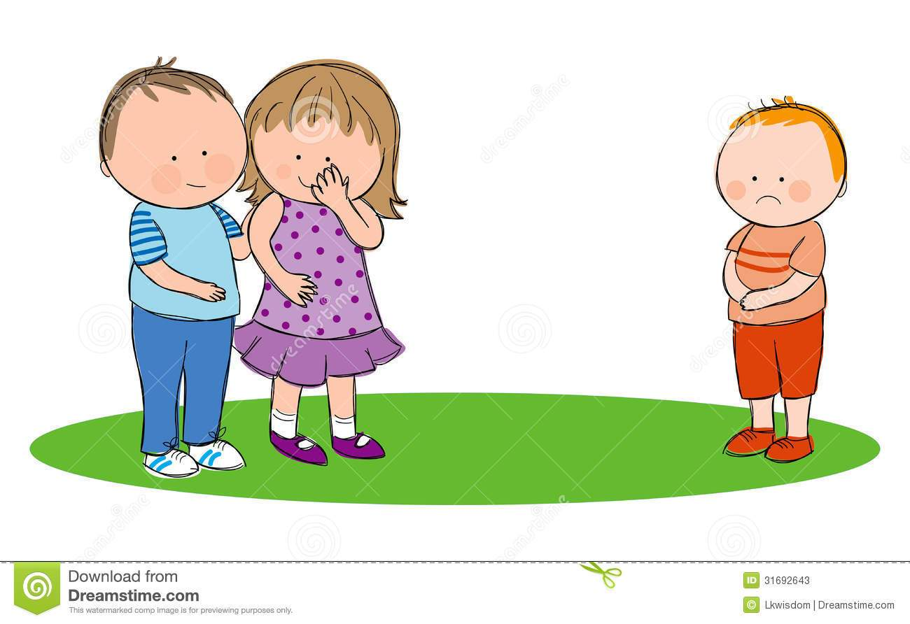 jpg library Portal . Kids being mean clipart