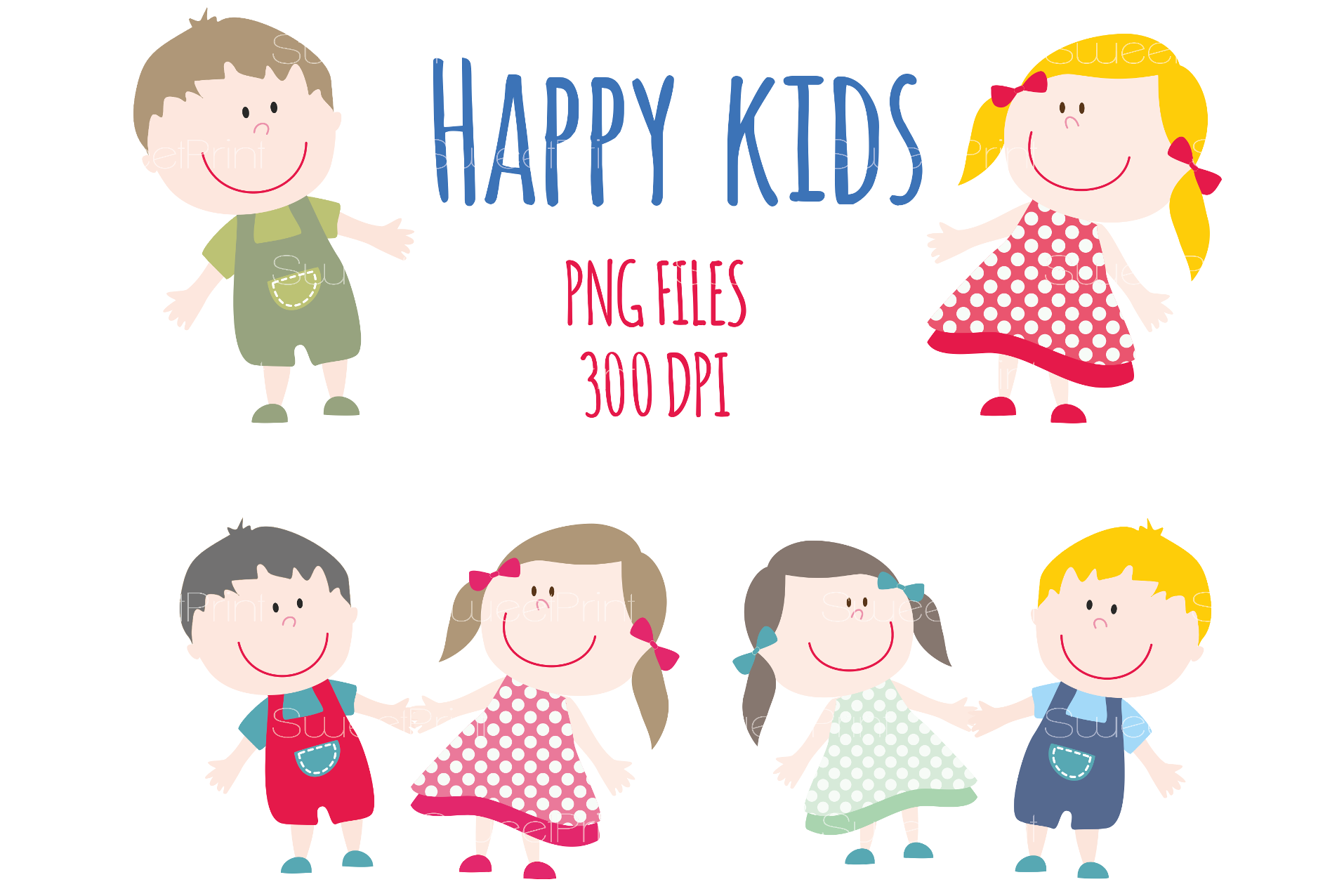 png free library Happy smile children clip. Kids clipart.
