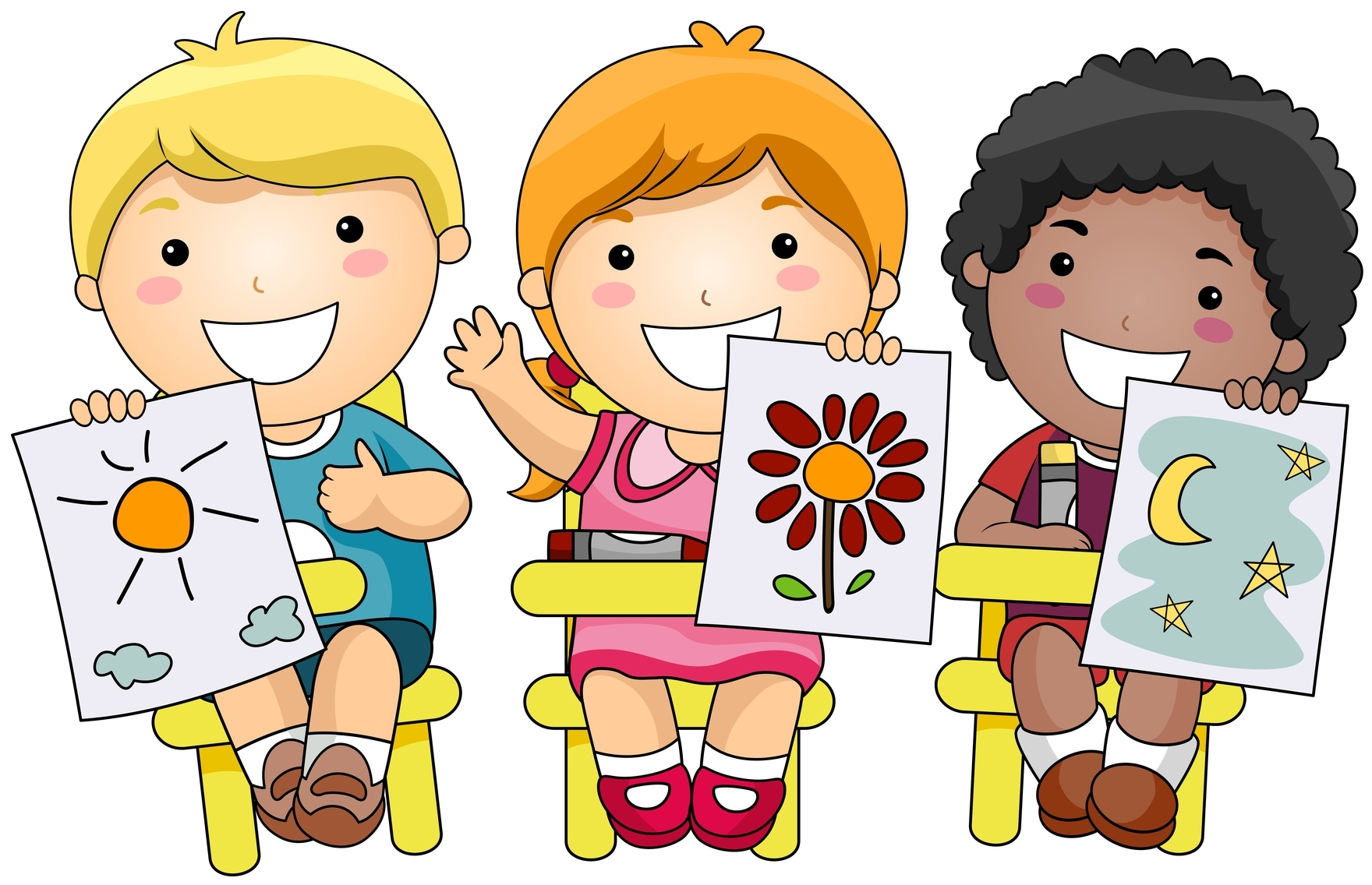 banner transparent download Kids doing art clipart. Free crafts group cliparts.