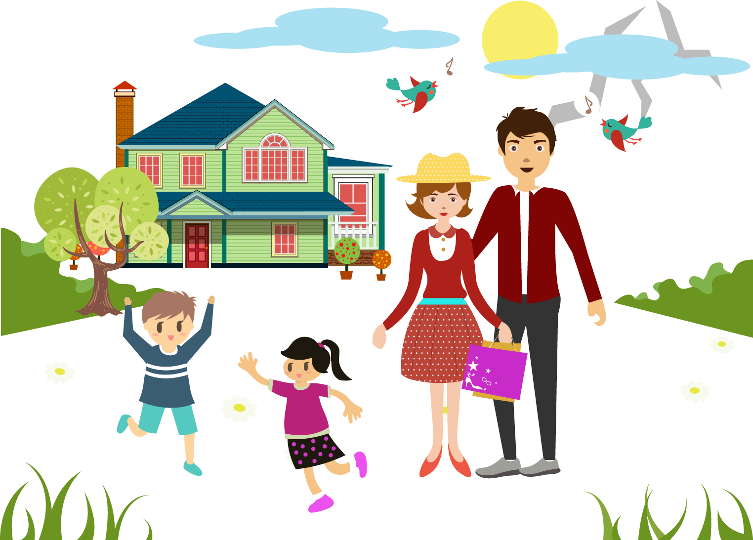 banner freeuse download Family Happiness Drawing Illustration