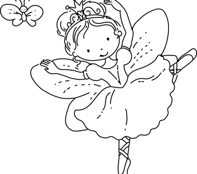 png library download Fairy coloring pages for. Drawing printables princess