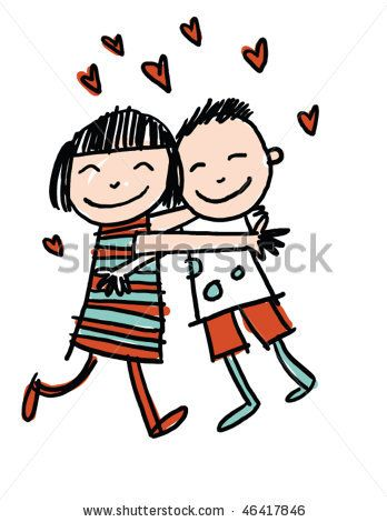 clipart free stock Hands line google search. Kids hugging clipart