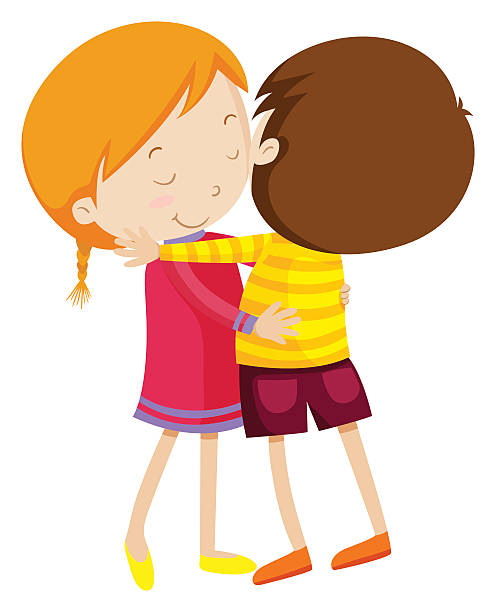 image freeuse Kids hugging clipart. Station