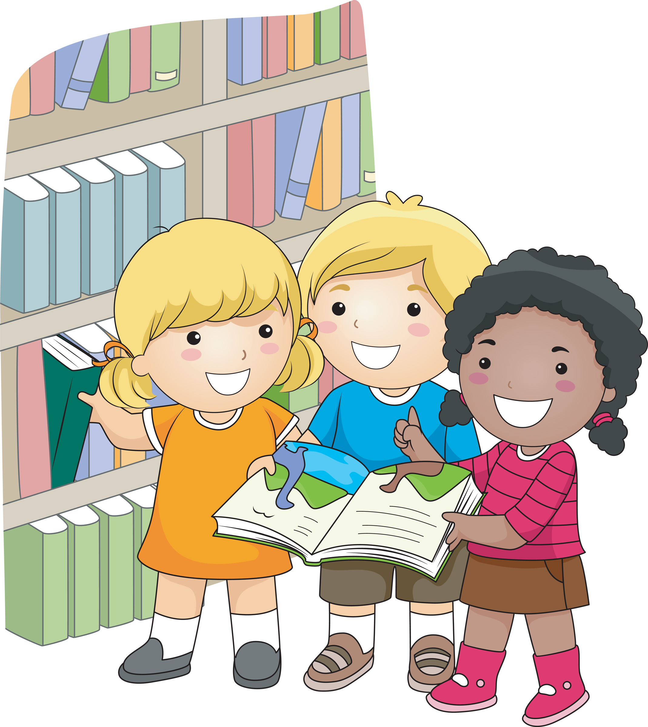 clip art royalty free stock Vaughn will be closed. Kids in library clipart.