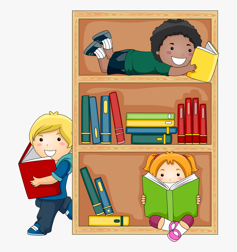 png transparent library Student reading public child. Kids in library clipart.