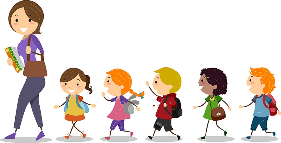png black and white download Kids in line clipart. Free walking cliparts download