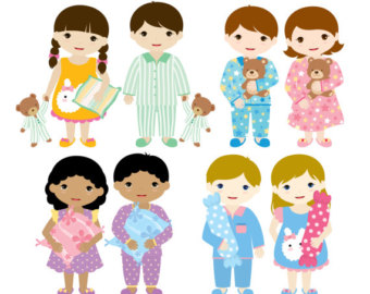 vector stock Free pajama day cliparts. Kids in pajamas clipart