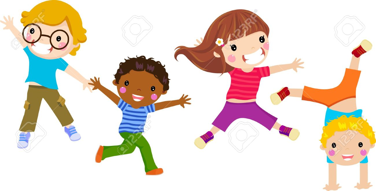 clipart freeuse stock Station . Kids jumping clipart.