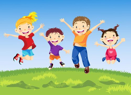 clip art library library Cartoon music for . Kids jumping clipart.