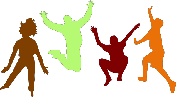 graphic library Jump park pencil and. Kids jumping on trampoline clipart