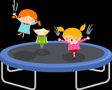 clip art transparent stock Kids jumping on trampoline clipart. Batuut batuudid batuudikomplektid instock