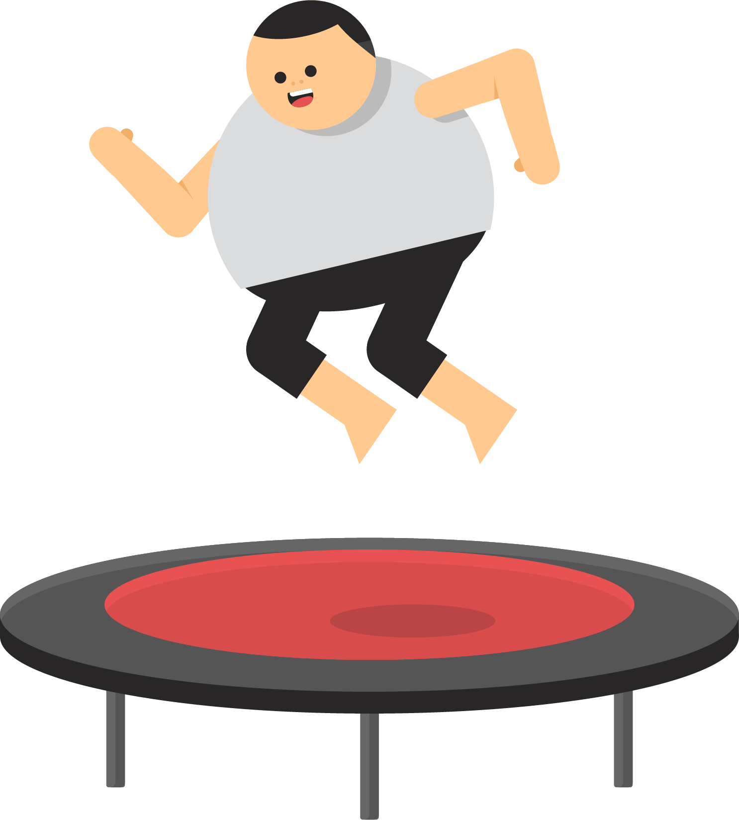 clip free library Kids jumping on trampoline clipart. Icon fat playing transprent