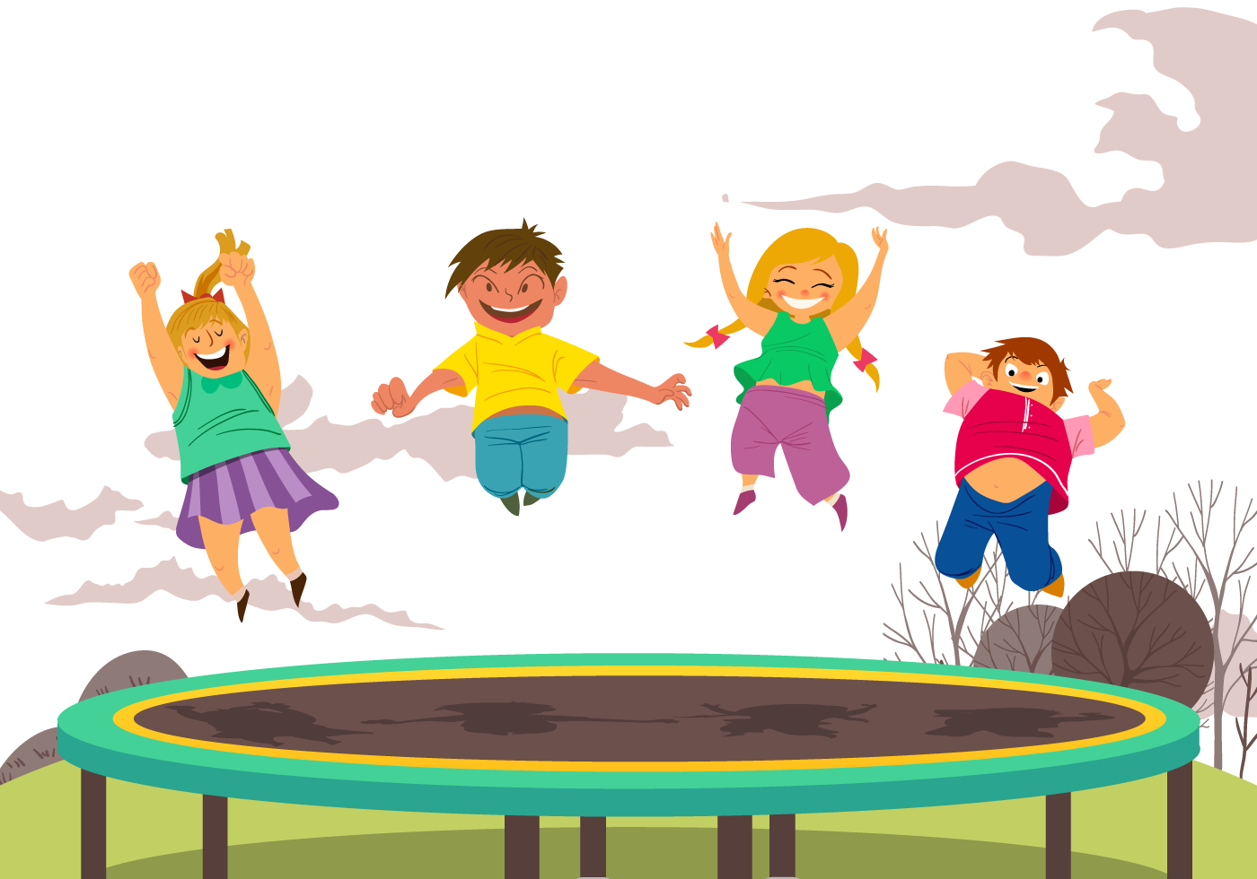 jpg transparent Jumping clipart backyard fun. Trampoline child trampolining happy