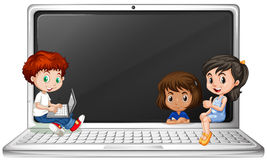 png black and white library Portal . Kids laptop clipart