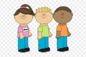 svg black and white Kids lining up clipart. Children portal .