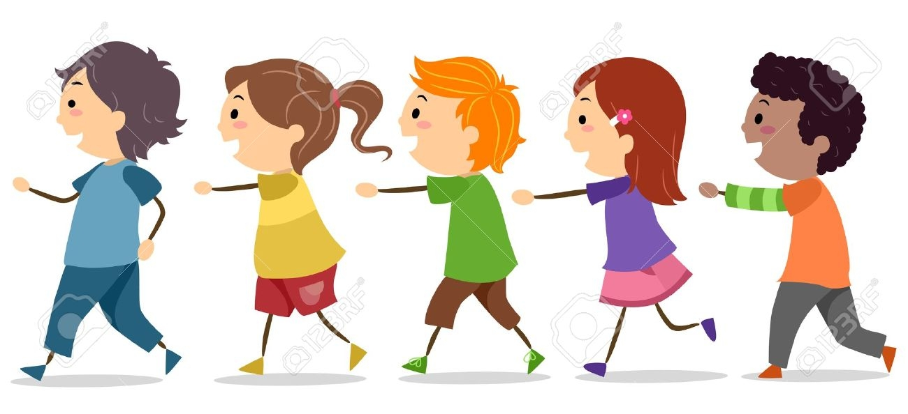 svg free library Kids lining up clipart. Children clip art library.