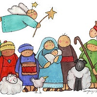 clip art royalty free library Free cute cliparts download. Kids nativity clipart