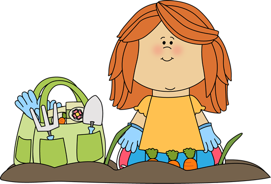 clip art library library Kids plants clipart. Gardening for out and