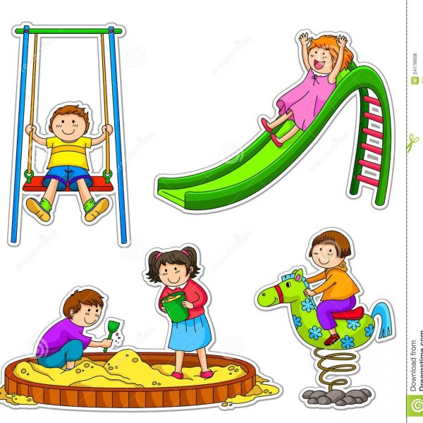 image library stock With regard to . Kids playing at school clipart