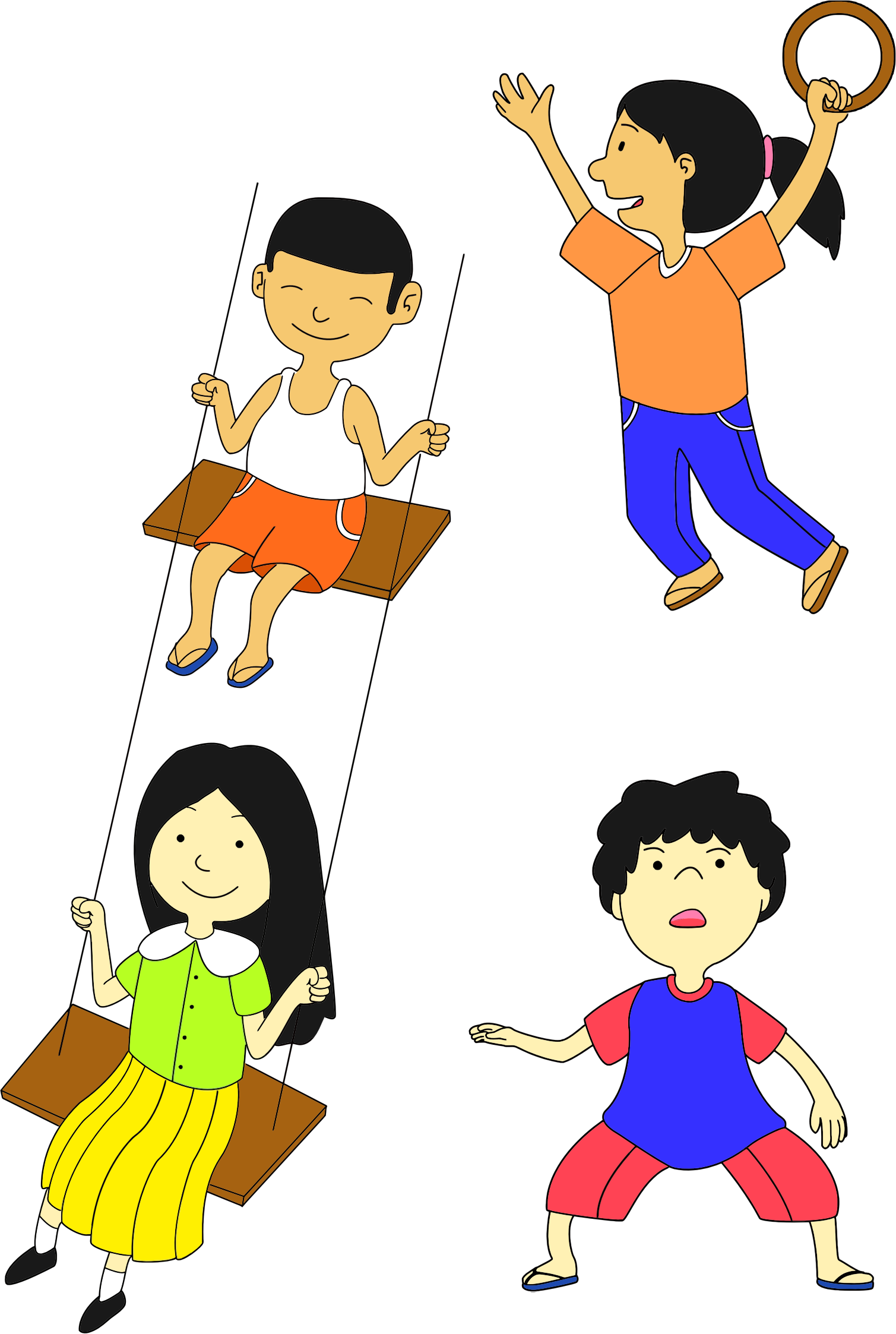 image transparent library Kids playing clipart. Multicultural big image png.