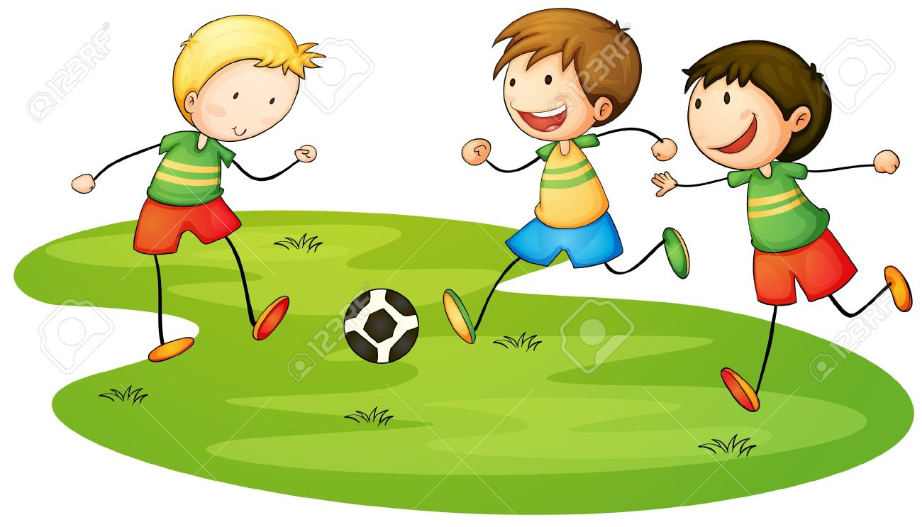 graphic freeuse stock Clipart kids playing. Boy sports clip art