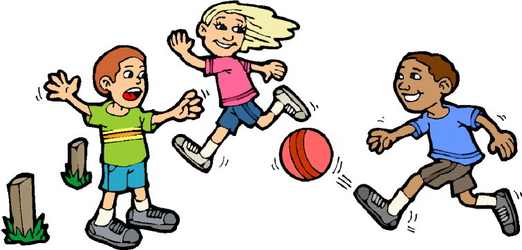 jpg freeuse library Kids playing kickball clipart. Portal