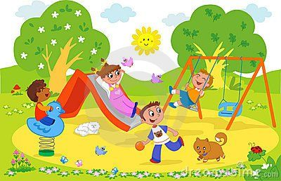 clipart freeuse Pin by sofea nani. Kids playing on playground clipart