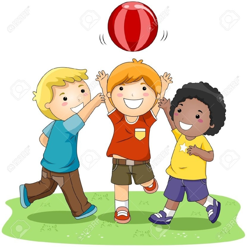 vector library Clip art . Kids playing outside clipart