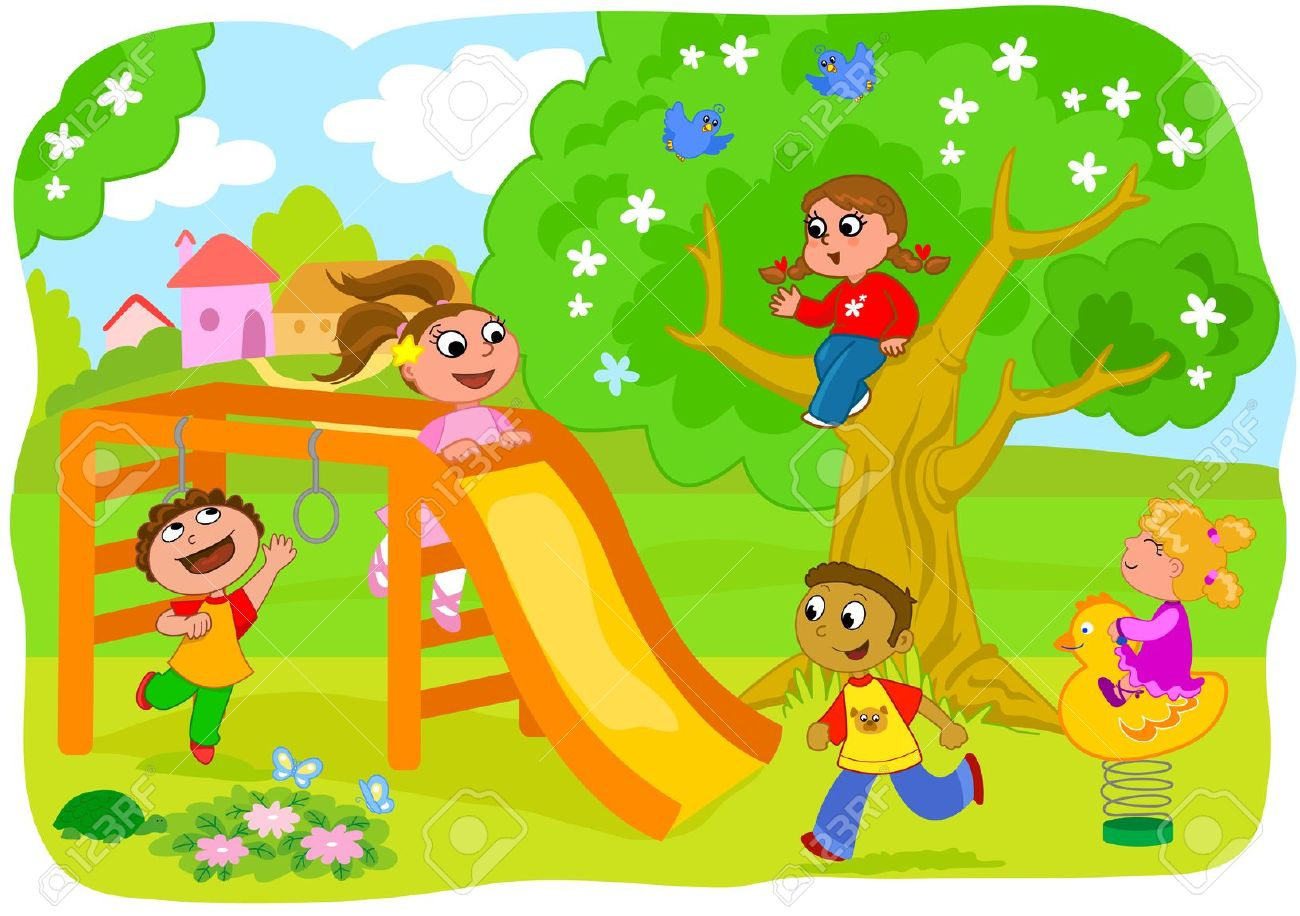 clip transparent library Clip art library . Kids playing outside clipart