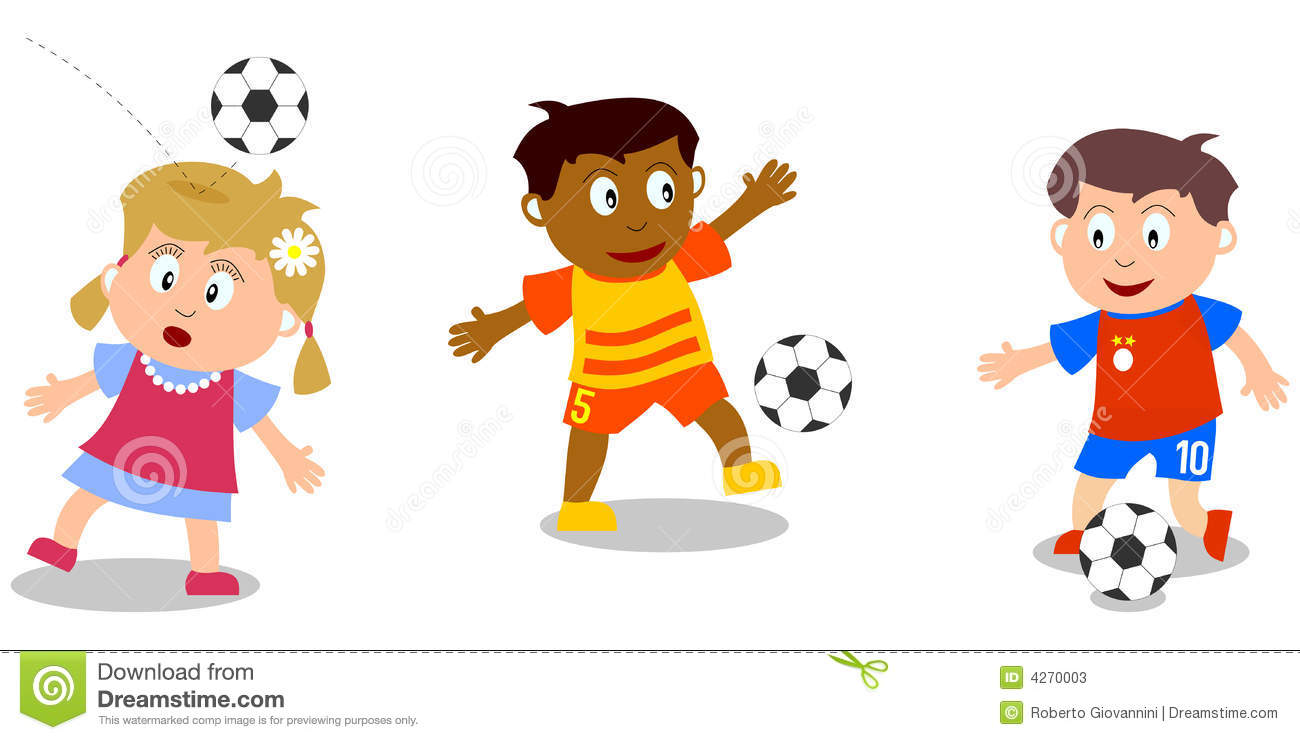 svg royalty free library Clip art bay . Kids playing soccer clipart