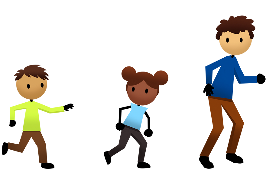 jpg freeuse Activities active for life. Kids playing tag clipart.