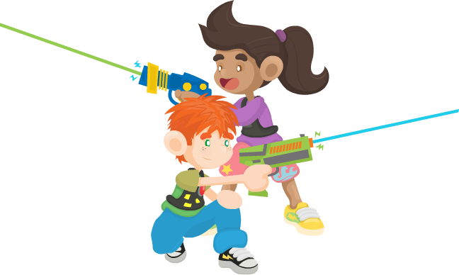 png freeuse download Kids playing tag clipart. Birthday parties destin laser.