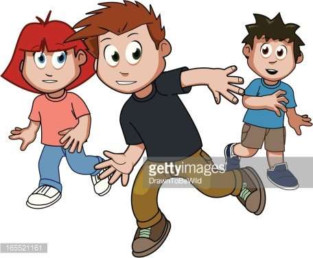 clip art free stock Image clip arts . Kids playing tag clipart.