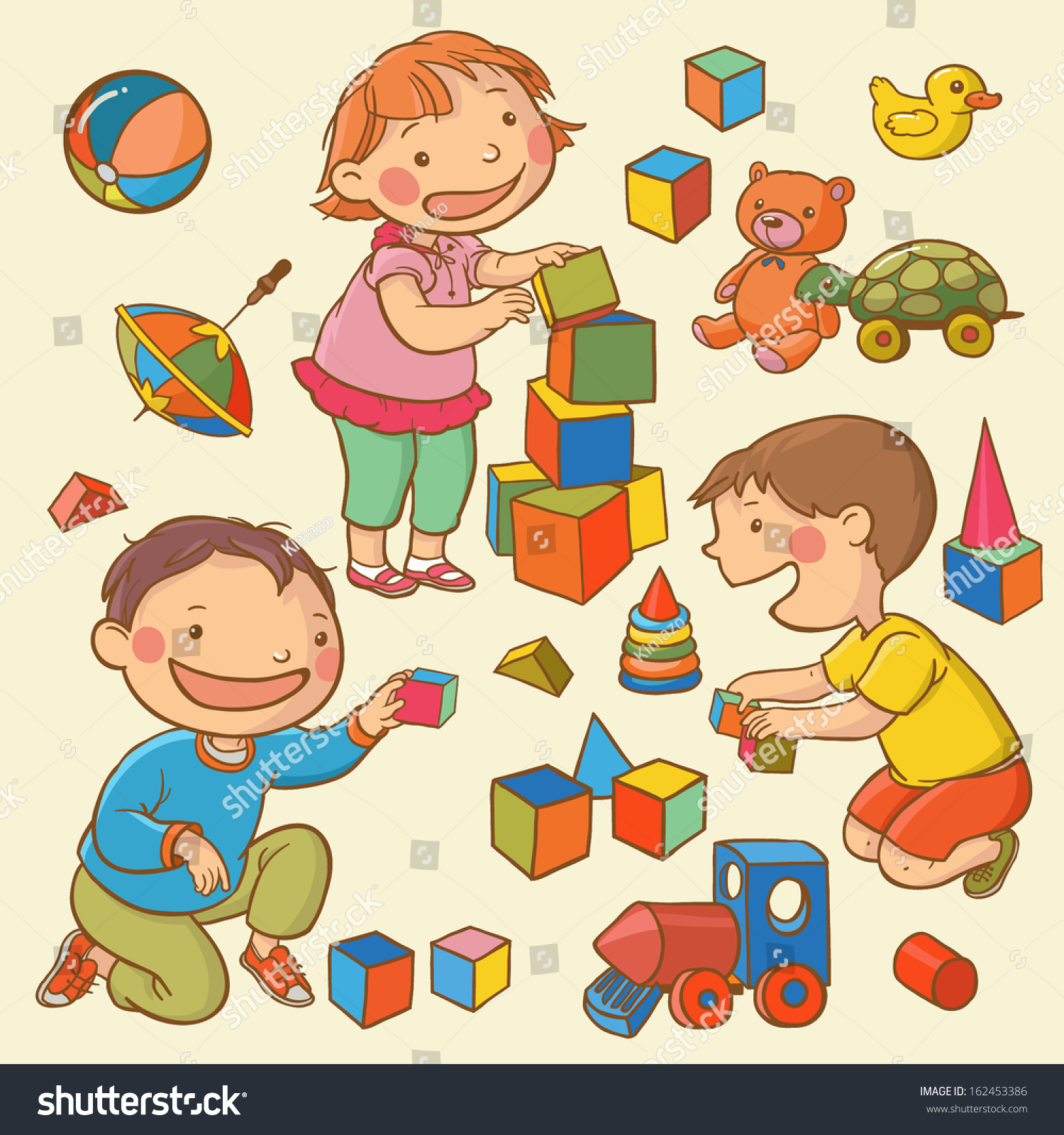 picture freeuse Portal . Kids playing with toys clipart.