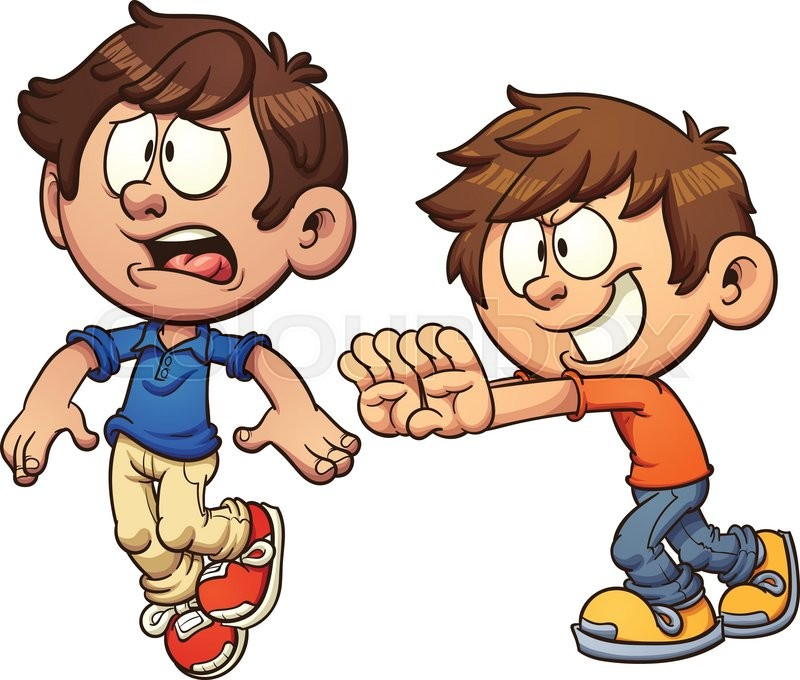 clip free stock Children portal . Kids pushing each other clipart