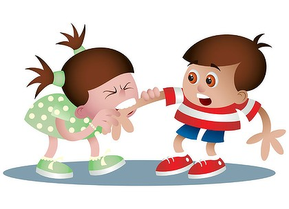 jpg stock Kids pushing each other clipart. Station