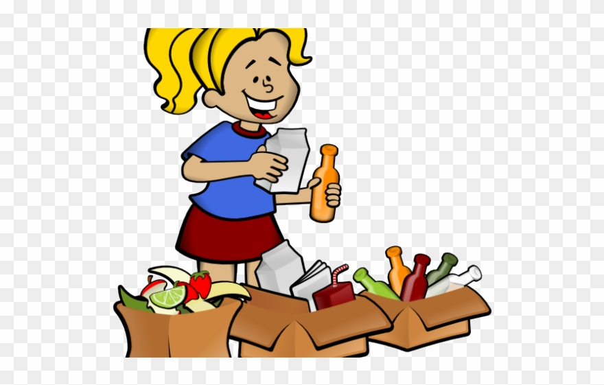 png black and white download Kids recycle clipart. Child recycling for png.