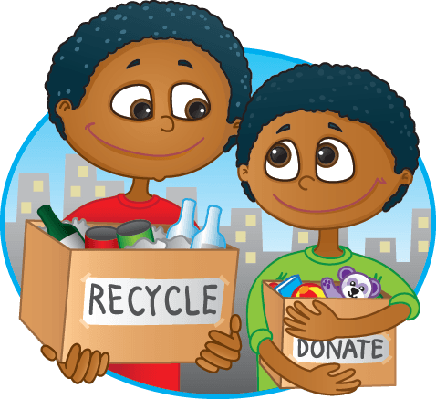 clipart stock Cyberchase reduce reuse science. Kids recycle clipart.