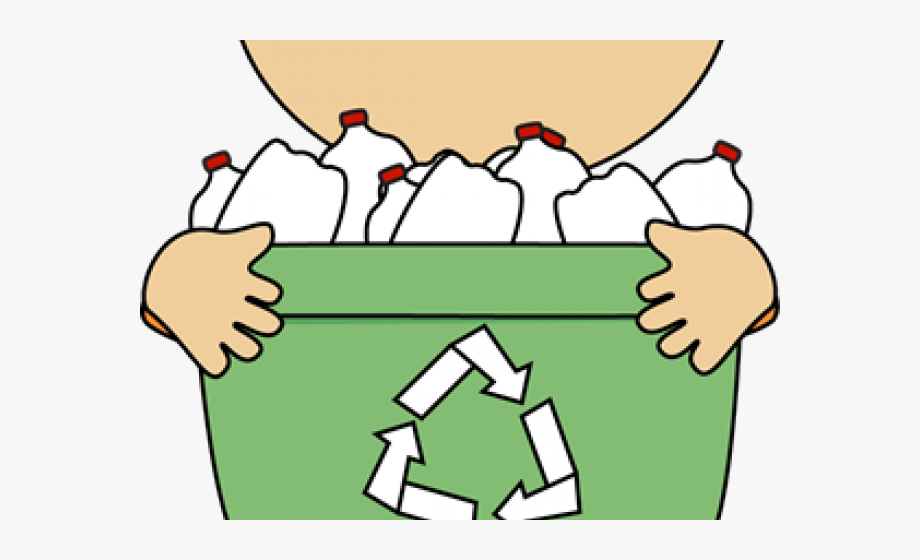 image library Kid recycling transparent bin. Kids recycle clipart.