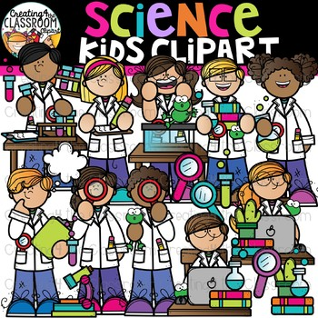 vector black and white download Kids science clipart.