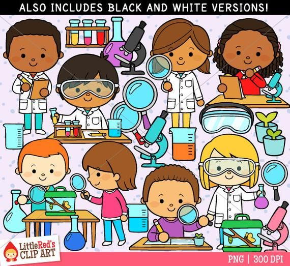 vector royalty free stock Clip art for . Kids science clipart