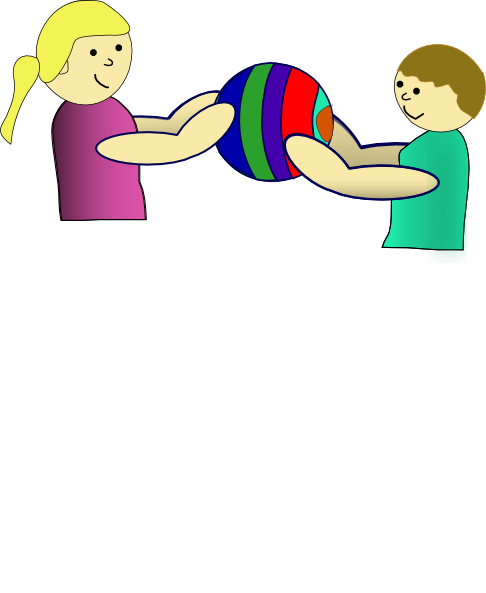 jpg download Students sharing clipart. Nlyl children a ball.