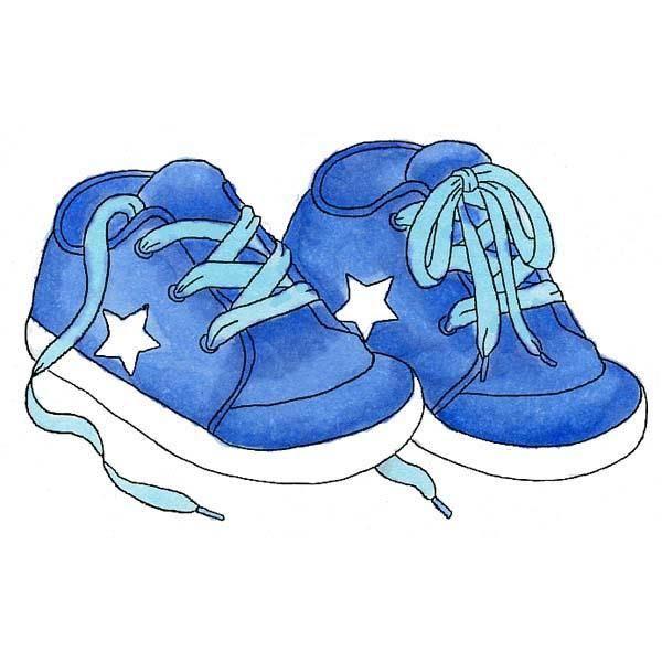 clip art freeuse library Kids shoes clipart.  baby boy sneakers